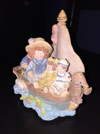 "Heart Tugs San Francisco Music Box Company HT Nautical Rag Doll Figurine 6""tall by6""width  Calgary, T3E 6L9"