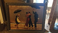 Man and woman dancing beside butler and maid painting Norfolk, 23503