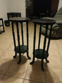 two black wooden windsor chairs