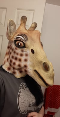 big rubber giraffe mask