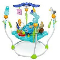 baby's blue and green jumperoo Edmonton, T6L 6H5