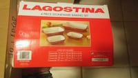 LAGOSTINA 4PC. STONEWARE BAKING SET!!! Surrey, V3S 4J5