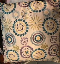 White, blue, and green floral throw pillow Wilmington, 28403