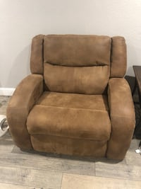 Brown suede recliner sofa chair Manteca, 95336
