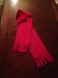 Red Fleece Scarf w/Fringe (ebay selling $6 + $4 shpg) Katy