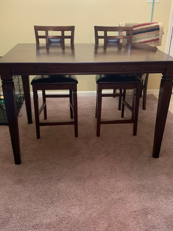 Admirable Dark Cherry Wood Dining Table 4 Chairs Gmtry Best Dining Table And Chair Ideas Images Gmtryco