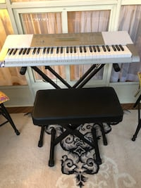 Casio LK-280 keyboard, stand & chair
