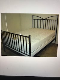 Queen IKEA Black Heavy Metal Frame Bed, will Deliver ! Washington