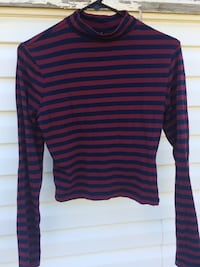 red and black striped long-sleeved shirt Calgary, T1Y 2W8