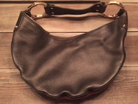 Gucci authentic black leather hobo purse bag handbag shoulder green red stripe Hamilton, L8L 7N2