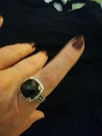 silver-colored and black gemstone ring Chattanooga, 37421