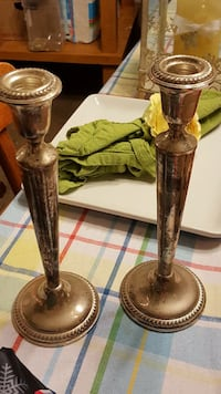 two silverplated metal candle holders Hagerstown, 21742