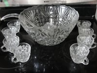 glass punch bowl set     Havelock, ON K0L 1Z0, Canada