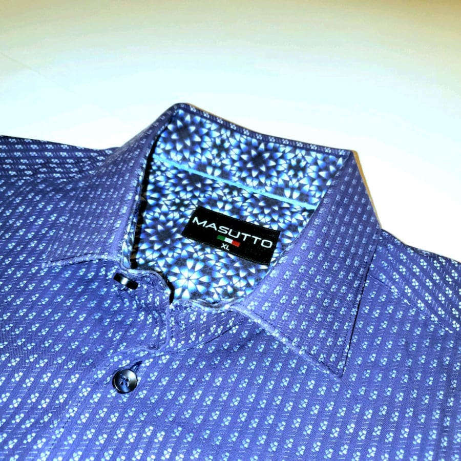 XL Masutto Contrasting Cuff and Collar Button Up