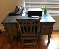 Computer Desk  (marble top) and chair