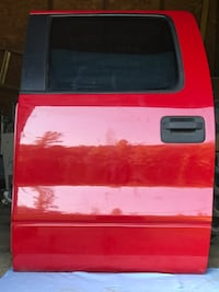 Drivers Left Rear Side Door (Candy Apple Red color) Fits 2007 Ford F-150 Truck.  This is the DOOR & FRAME, electronic, tinted window!