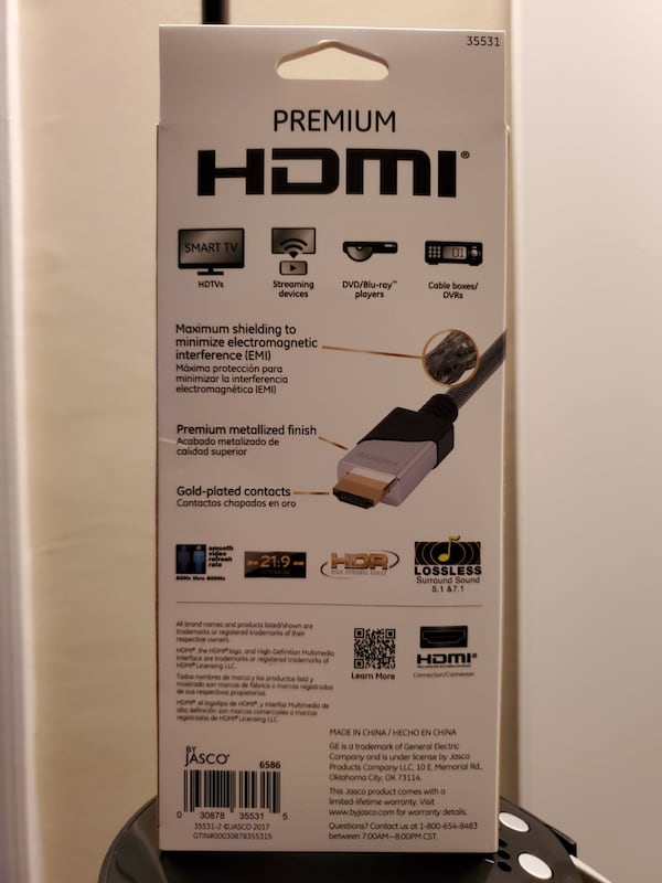 NEW! GE Premium HDMI Cable with Ethernet, 4 ft., 4K UltraHD 1080P   716a5a92-194a-44fd-9978-fc13966540c9