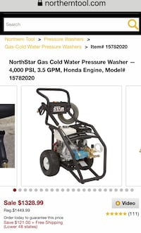 Northern Commercial Pressure Washer - Honda Engine
