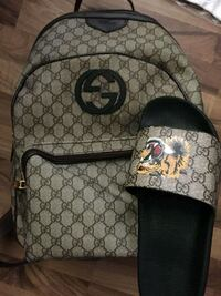 gray and black Gucci backpack Edmonton, T6T 0S8