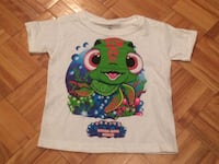 Size 2-3 cute turtle shirt. Mouth opens (flap). Pu in Dieppe.  Dieppe, E1A