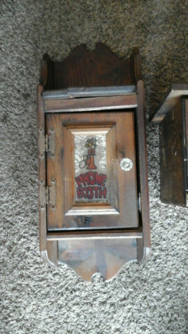Antique solid wood phone booth