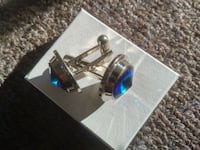 Solid cuff links- brilliant blue Toronto, M4Y 2K2