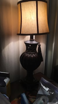 brown ceramic table lamp with lampshade Pikesville, 21208