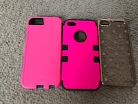Two pink cases and 1 clear iphone cases Christiansburg, 24073