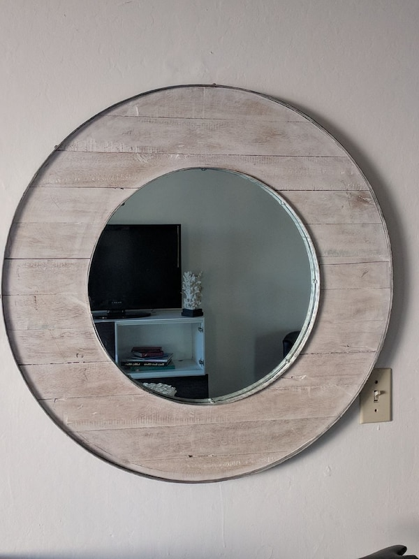 Very large chic crate and barrel mirror