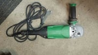 Green and black angle grinder