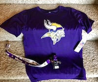 Vikings performance T-shirt (Youth Large) and lanyard