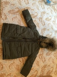 Gap kids green kids puffer with fur trim Chantilly, 20152