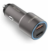 Quick Charge 3.0 Car Charger,30W Metal Dual Ports USB Fast Car Charger