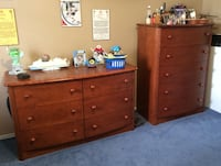 Brown wooden 6-drawer dresser 777 km