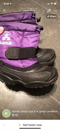 pair of black-and-purple boots Brossard, J4Y 0K2