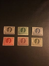 four assorted-color postage stamps Toronto, M6R 2L5