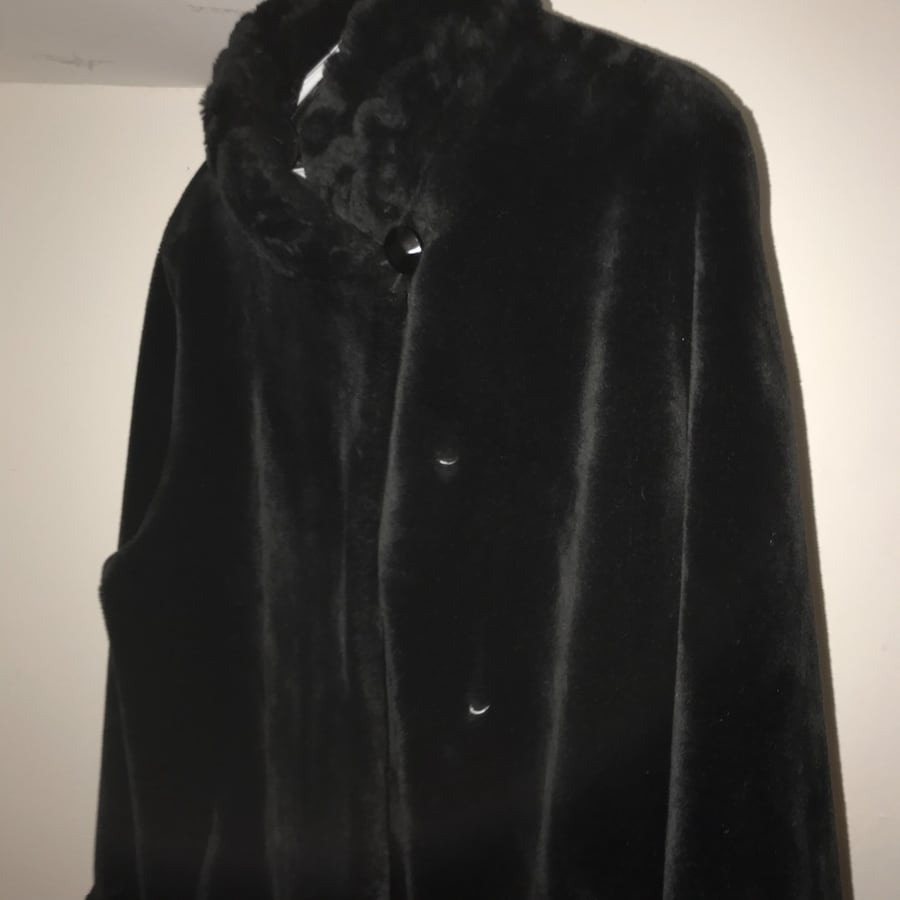 Black button-up coat