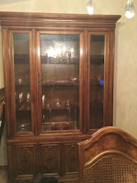 Brown wooden framed glass display cabinet Albany, 12205