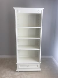 White wooden 5-layer Bookcase Woodbridge, 22192