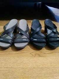 2 pair Crocs with heels read more info Perryville, 21903