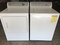 white front-load and top-load washers