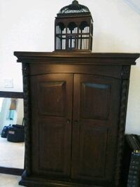 brown wooden cabinet with drawer Vero Beach
