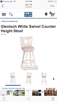 Counter height stools BRAND NEW IN BOX