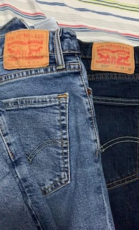 2 pairs of Levi's 511 jeans