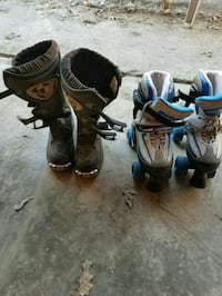 Dirt bike boots and roller skates