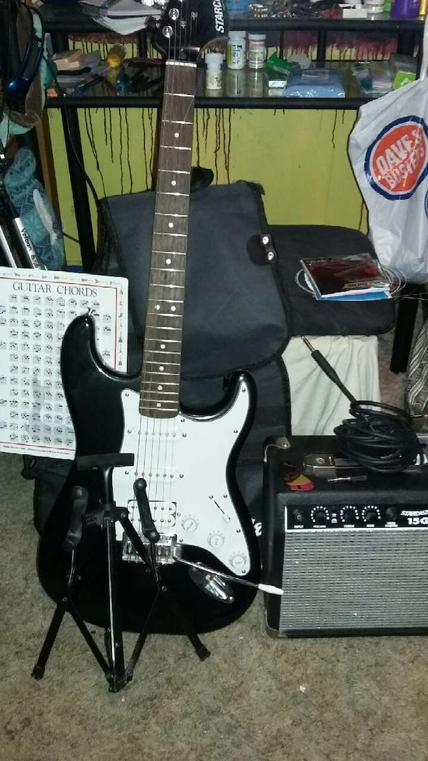 Used Electric guitar and amp - Fender Starcaster for sale in ...