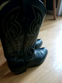 pair of black leather cowboy boots Waterloo, N2K 3Y8
