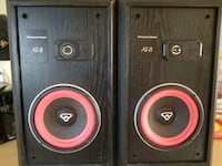 two black-and-red speakers Sherwood Park, T8A 1C7
