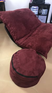 red suede padded sofa chair Tucson, 85704