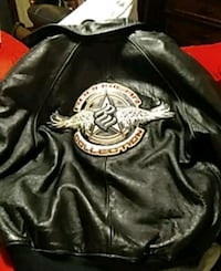 ROCAWEAR - LEATHER BOMBER JACKET authentic